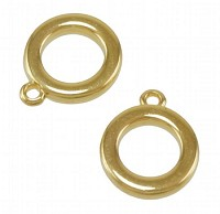 Rounded Ring Charm shiny gold - per 10 pieces