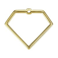 Wire Diamond Pendant Shiny Gold - per 10 pieces