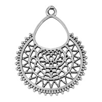 Moroccan Pendant Antique Silver - per 10 pieces