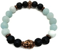 Lava Rock Bracelet Kit - Buddha