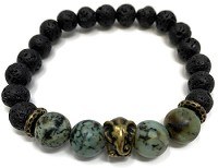 Lava Rock Bracelet Kit - Elephant