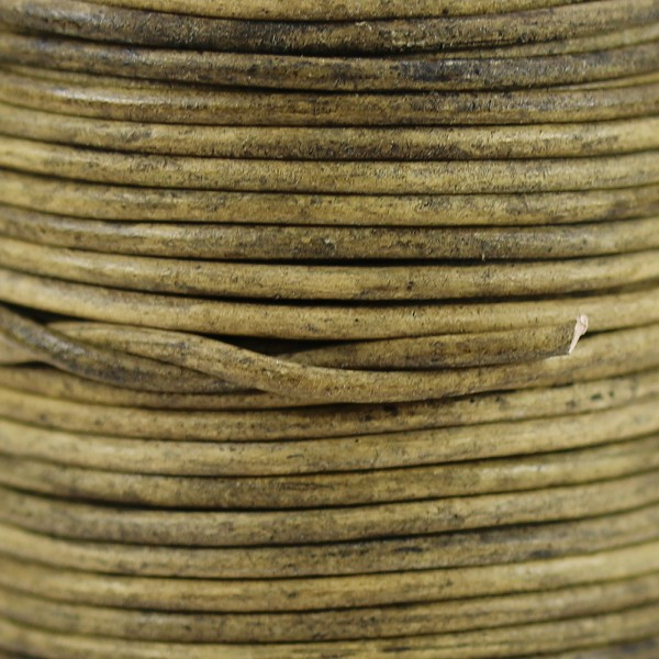 1mm Round Indian Leather Cord - Peanut Brown - per yard