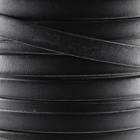 Bruciato 10mm Flat leather cord -  Black - per inch