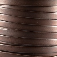 Bruciato 10mm Flat leather cord -  Brown - per inch