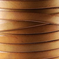 Bruciato 10mm Flat leather cord -  Tan - per inch