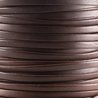 Bruciato 5mm Flat leather cord -  Brown - per inch