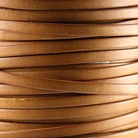 Bruciato 5mm Flat leather cord -  Tan - per inch