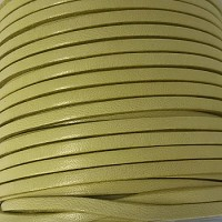 3mm Flat Leather Cord per 5 Meters - Candy Olive