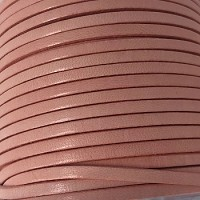 3mm Flat Leather Cord per 5 Meters - Candy Pink
