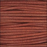 3mm Round Indian Leather Cord -Red Natural Dye - per inch