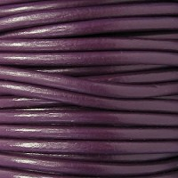 Euro 4mm Round Leather Cord - PLUM - per inch