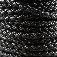 Bolo Braided 8mm Round NAT BLACK per 10m Spool