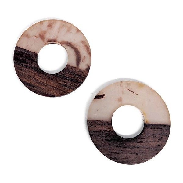 Wood and Acrylic Circle Pendant