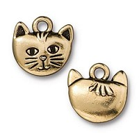 TierraCast Charm Whiskers - Gold Plated
