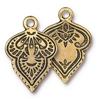 TierraCast Charm Mehndi - Gold Plated
