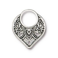 TierraCast Link Temple Ring - Silver Plated
