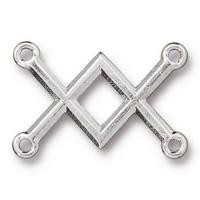 TierraCast Criss Crossed Link - Silver Plated