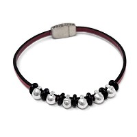 Rebel Dots 3mm Leather Bracelet