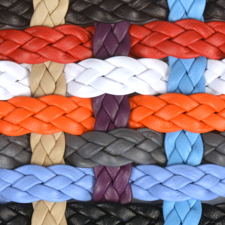 Braided 10mm Flat Leather Cord