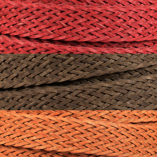 Braided Bonded 20mm Flat Leather