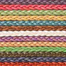 Braided 5mm Flat Leather Cord