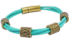 Abacus 2mm Round Leather Bracelet