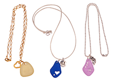 Bermuda Charms Cultured Sea Glass Necklaces