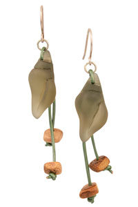 Beach Shell Treasure Cultured Sea Glass Earrings
