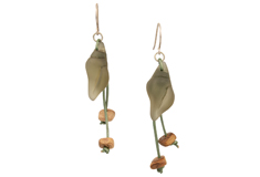 Beach Shell Treasure Sea Glass Earrings