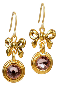 Bling with a Bow Swarovski Birthstone Earrings