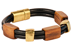 Boxwood Derby Mens Leather Bracelet