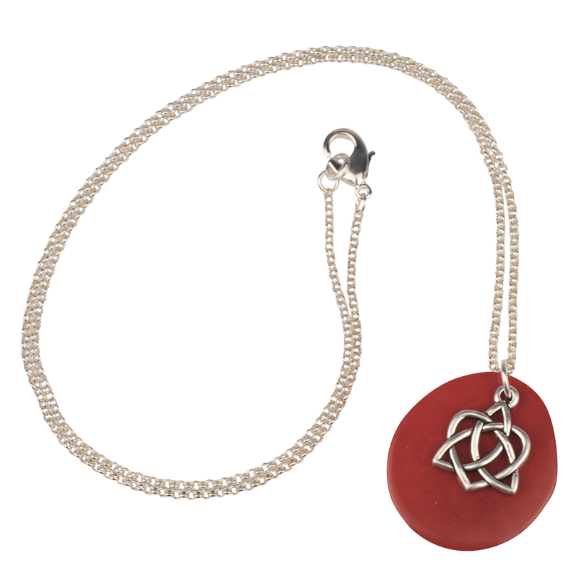 Celtic Heart Tagua Necklace