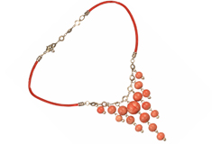 Cherry Cascade Claycult Necklace