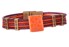 Cosmos Clay River Lillypilly Round Leather Bracelet