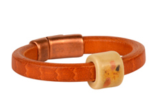 Crocodile Rock Regaliz Leather Bracelet