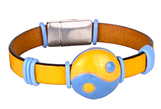 Color in Balance Golem & Flat Leather Bracelet