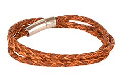 Corded Coil Round Braided Bolo Cord Bracelet