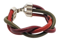 Braided Cord Round Leather Bracelet