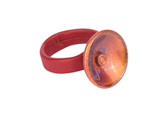 Galaxy Disc Leather Ring