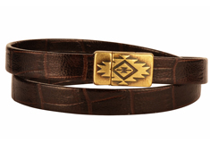 Gila Nile Flat Leather Wrap Bracelet