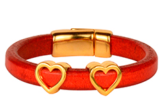 Two Hearts Beat as One Regaliz Leather Bracelets