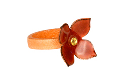 Melon Blossom Leather Ring