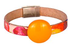 Mango Marguerita Golem & Flat Leather Bracelet