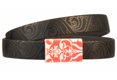 Marrakesh Patterned Clasp & PVC Cord Bracelet