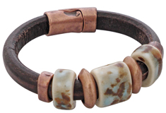 Mountain Sky Regaliz Leather Bracelet