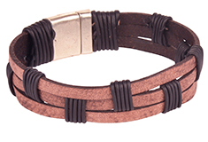 Old World Weave Flat Leather Bracelet