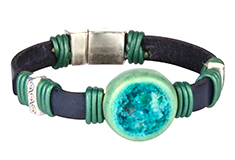 Ocean Treasure Golem & Flat Leather Bracelet