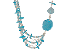 Pacific Waterfall Cultured Sea Glass Necklace