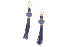 Royal Tassel Sea Glass Earrings