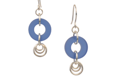 Royal Dangles Cultured Sea Glass Earrings